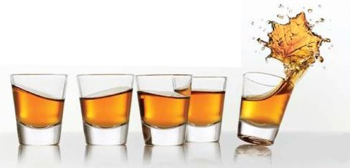 4 out of 5 whiskey shots