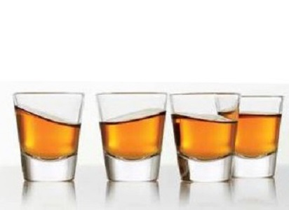 4 whiskey shots